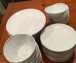 White ikea dinner set