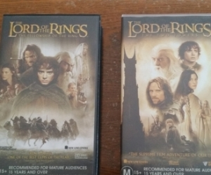 Lord of the Rings VHS - FOTR & TTT