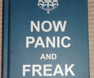 Very small book of quptations called Now Panic and Freak Out