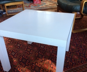 white ikea side table