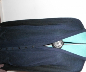 womens blue cardigan
