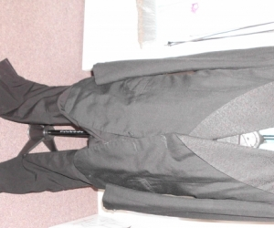 BLACK CUSTOM MADE SUIT MENS