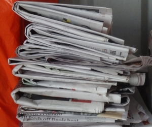 newspapers, small quantity