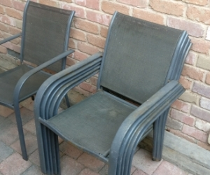 6x Steel Deck Chairs