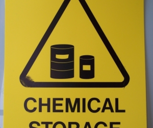 Chemical Storage Area - Safety Sign - 60x45cm