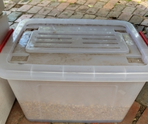 42L container + chook feed