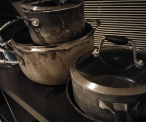 Pots and frypan