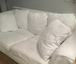 White couch in good condition going free!