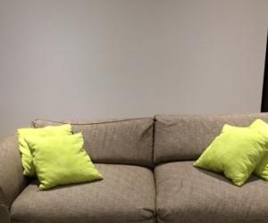 3 seater fabric sofa x2