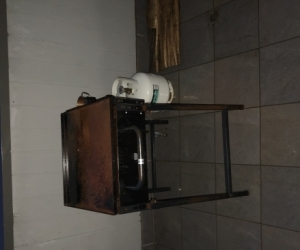 BBQ and gas bottle