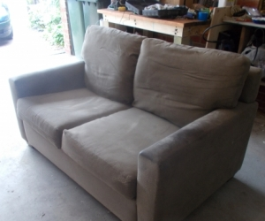 SUEDE FINISH SOFA