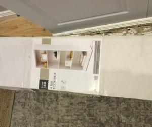 2 x white Kmart bookcases new