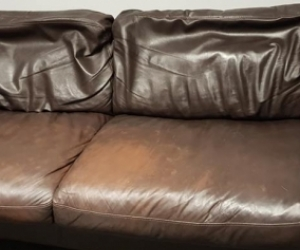 X2 leather couches