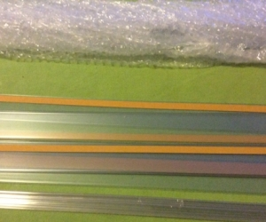 Adhesive Shelf strips 1200mm x 40mm clear