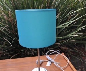 Small turquoise lamp
