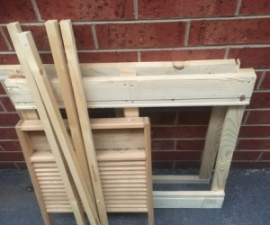 Particleboard and timber frame