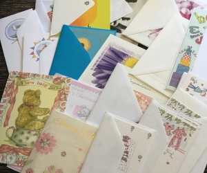 Various birthday cards and other occassion card