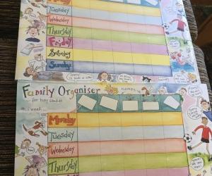 Family organiser notepads