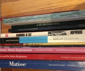 Art exhibition catalogues/books