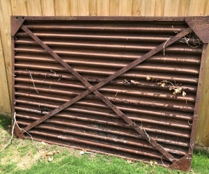 100 year old Steel gate 2.4m x 1.6mg