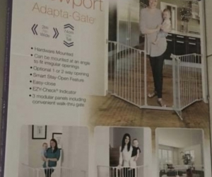 Baby gate safety barrier