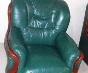 5 Seater Leather Lounge Set