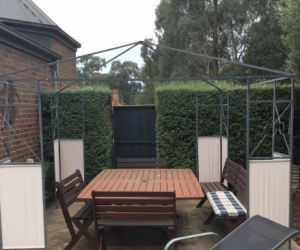 Gazebo without cover.Approx 3mx3m.
