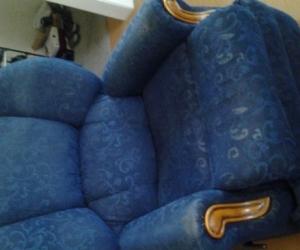 Blue 3 Piece Lounge Suite