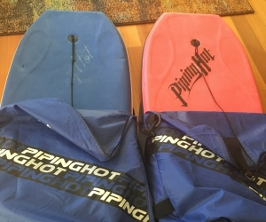 2 body boards &  covers
