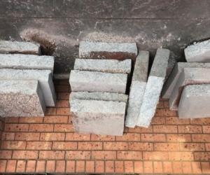 Concrete blocks, aggregate concrete