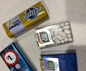 Empty Tic Tac; Mentos, Eclipse containers