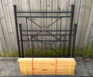 King single bed frame (with slats)
