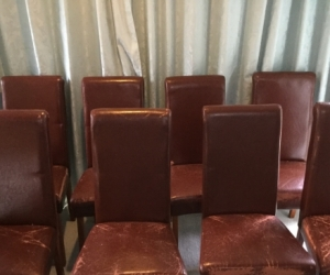 Free 10 Dining Chairs. PU Box Hill North