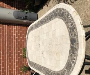 Stone and Alluminium Outdoor table