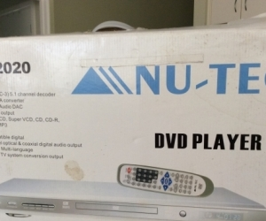 DVD Player.  NU-TEC 2020  silver..Taken...Pending Collect