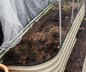 Raised garden frame