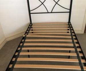 King Single Slat Bed Frame - Black