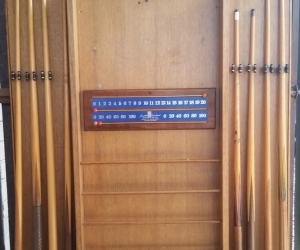 Billiards Cue Rack and Cues