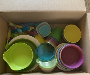Plastic bowls, plates, cups etc - east Ivanhoe
