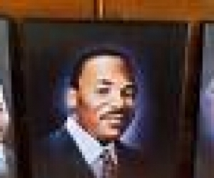 Collectors Item  - 3 paintings - MLK, Malcolm X, Mandela