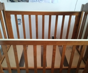 Unused cot and matress (cot for freecycle only due to age)