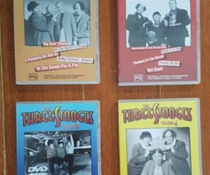 Three Stooges DVDs x 4