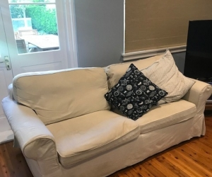 1 Sleeper couch with removable cover