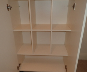 Off white custom made cabinets