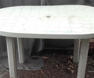 Old Outdoor Table - Croydon