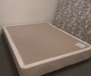 Queen size bed frame on wheels no mattress