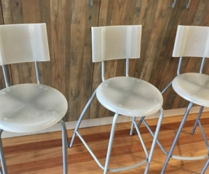 Three IKEA bar stools in good condition
