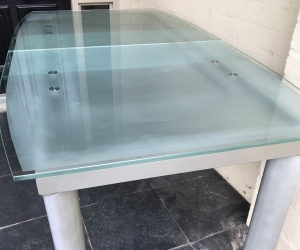 Glass extension dining table seat upto 10 people