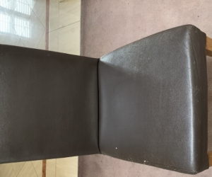 Brown leather kitchen chair
