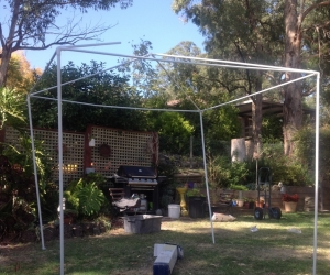 Marquee picnic gazebo FRAME only - no cover.